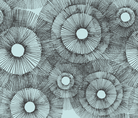 Urchin in Pale Blue fabric by curious+fanciful on Spoonflower - custom fabric