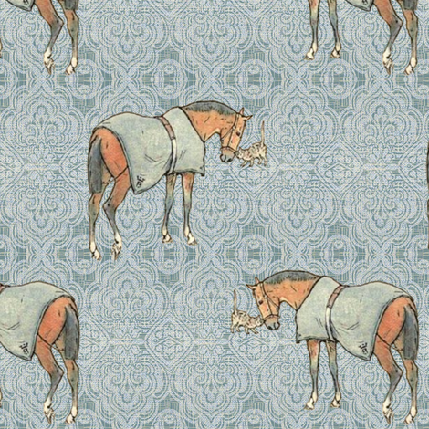 The Horse's meow fabric by ragan on Spoonflower - custom fabric