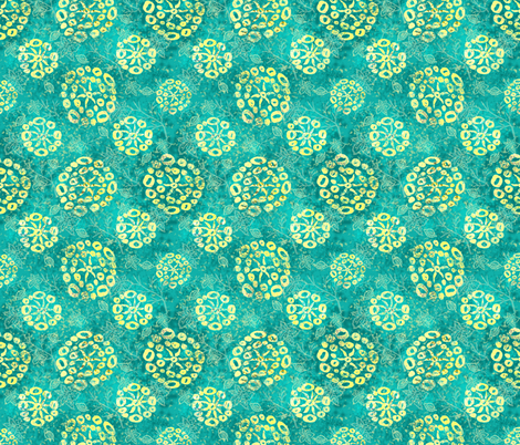 Herbal batik #2 fabric by helenpdesigns on Spoonflower - custom fabric