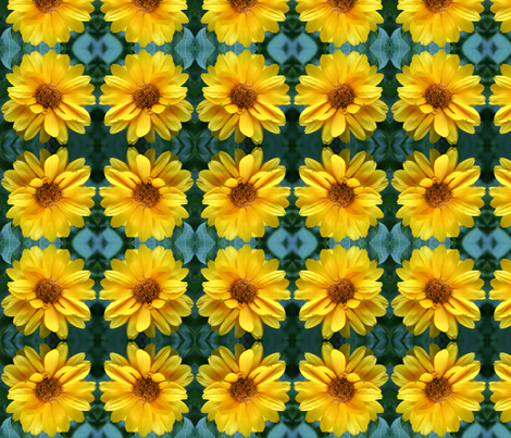 Yellow Coreopsis 9166 fabric by falcon11 on Spoonflower - custom fabric