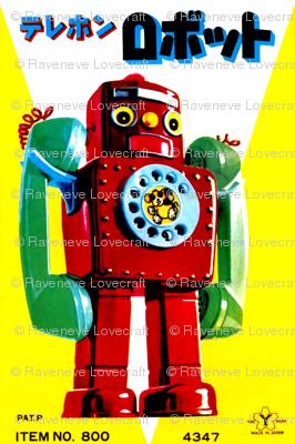 vintage retro kitsch telephone robots pop art science fiction sci fi toys futuristic advertisements advert ads commercials banners posters comics