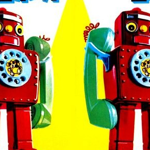 vintage retro kitsch telephone robots pop art science fiction sci fi toys futuristic advertisements advert ads commercials banners posters comics