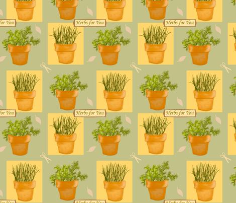 Herbs4u fabric by chovy on Spoonflower - custom fabric