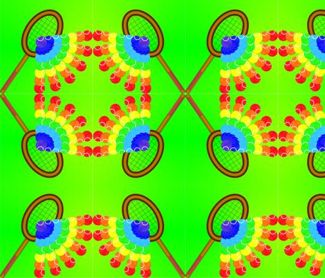 tennis_rainbow_spoonflower2_7_22_2014 fabric by compugraphd on Spoonflower - custom fabric