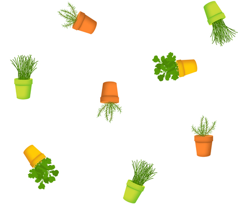 Peppy Potted Herbs fabric by sheila_marie_delgado on Spoonflower - custom fabric