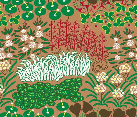 California Native Herb Garden fabric by mongiesama on Spoonflower - custom fabric
