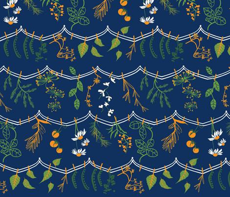 Herbs + Vegetable lines fabric by mirjamauno on Spoonflower - custom fabric