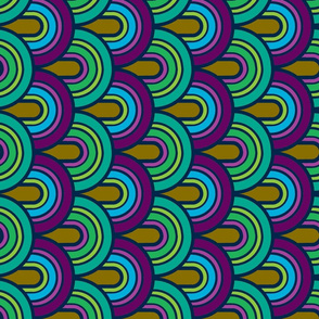 Rebel Retro Peacock Rainbows-ed
