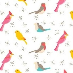 Scattered birds