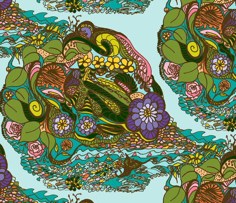 Fantastic Tropical Herbs fabric by rhondadesigns on Spoonflower - custom fabric