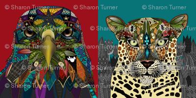 American Eagle Leopard Queen art panels