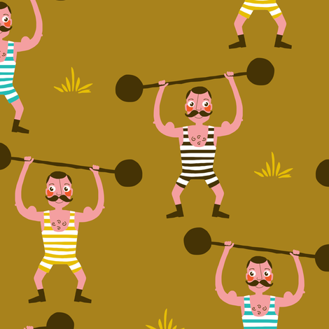 Strongmen fabric by zesti on Spoonflower - custom fabric