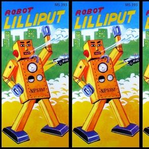 vintage retro kitsch robots pop art science fiction sci fi toys futuristic Lilliput advertisements advert ads commercials banners posters comics