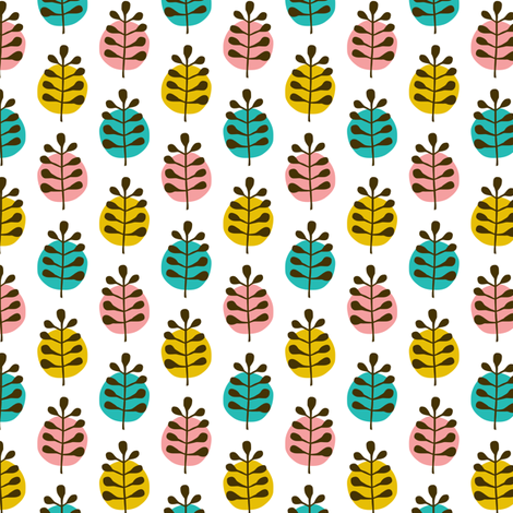 Circus Leaves fabric by zesti on Spoonflower - custom fabric