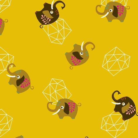 Circus Elephants fabric by zesti on Spoonflower - custom fabric