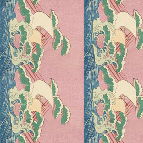 Japanese ships border fabric