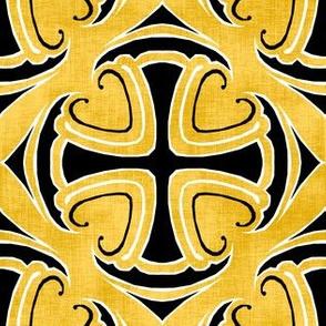 Tiled Crosses Gold