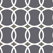 circle geometric gray