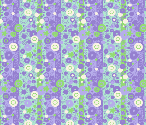 Sixties Deco Circles Purple fabric by vinpauld on Spoonflower - custom fabric