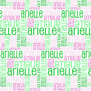 Personalised Name Design - Pinks and Greens
