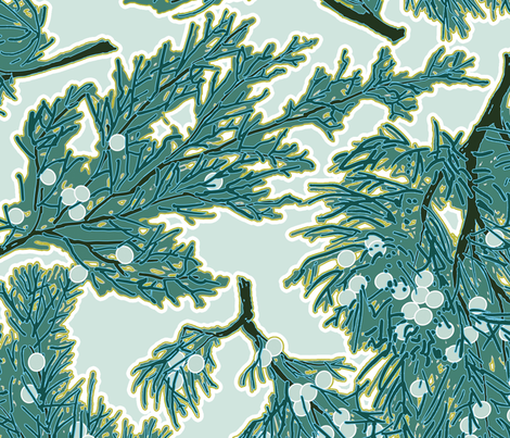 Juniper Berries - BOLD SCALE fabric by anntuck on Spoonflower - custom fabric