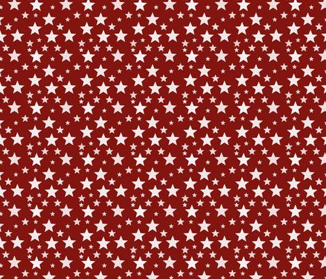 Maroon star fabric by modernfox on Spoonflower - custom fabric