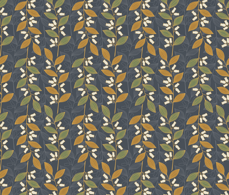branch with flowers fabric by tofutyklein on Spoonflower - custom fabric