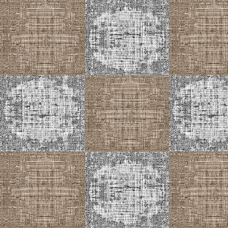 Circle Check - taupe/grey fabric by materialsgirl on Spoonflower - custom fabric