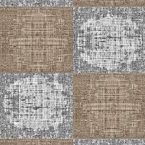 Circle Check - taupe/grey