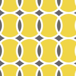 yellow tennis ball geometric