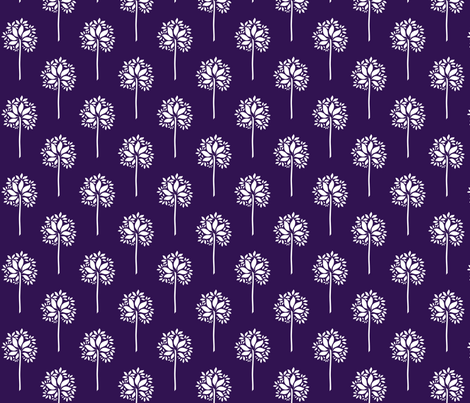 FlowerOrTreeLtPurple1 fabric by moharris on Spoonflower - custom fabric