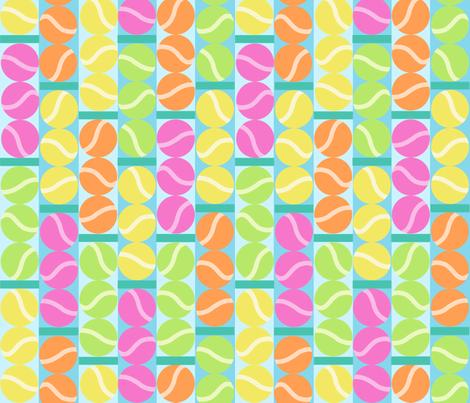 Fresh Tennis Balls fabric by elramsay on Spoonflower - custom fabric