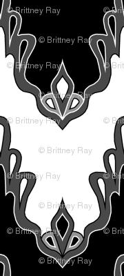 Black & White Lace Chevrons