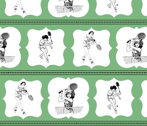 Vintage Tennis fabric by spool_of_sugar on Spoonflower - custom fabric