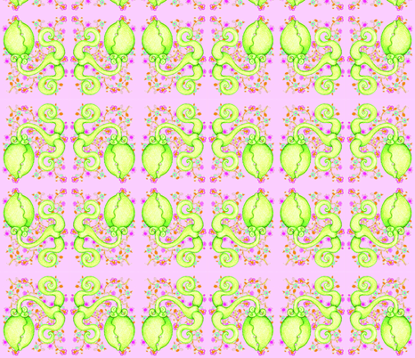Maneater on Flowers 2 fabric by studiosarcelle on Spoonflower - custom fabric