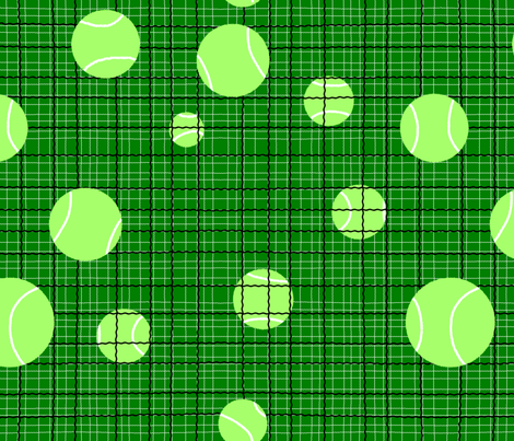 Lucy's Lost Tennis Balls fabric by peacoquettedesigns on Spoonflower - custom fabric