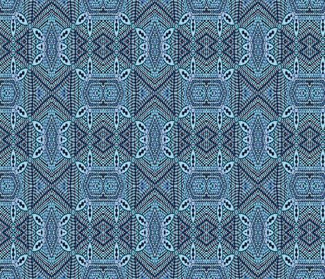 Blue white ornate fabric by wren_leyland on Spoonflower - custom fabric