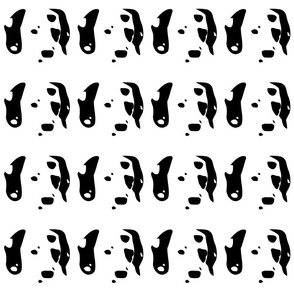 dog dalmatian small in a row