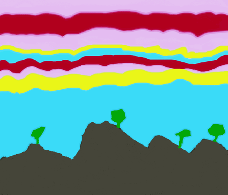 Sunrise during a hike fabric by ideaworks on Spoonflower - custom fabric