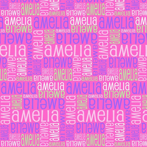 Personalised Name Design - Pinks Purple Green