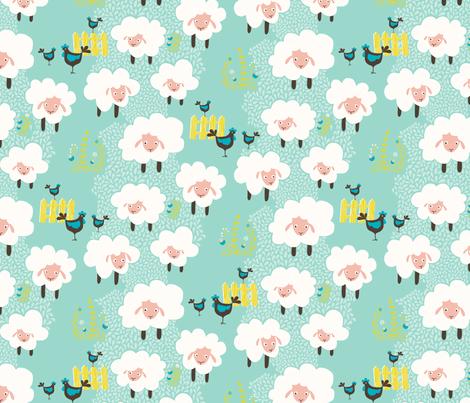 Counting Sheep fabric by zesti on Spoonflower - custom fabric