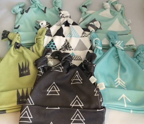 Geometric triangle in trendy black gray white and pastel blue