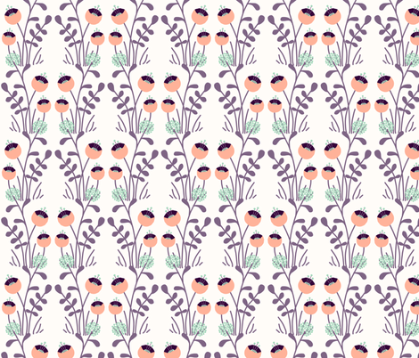 Floral fabric by zesti on Spoonflower - custom fabric