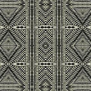 Black White Diamond Geometric