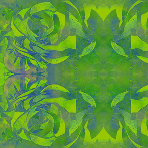 spiraling green swirls