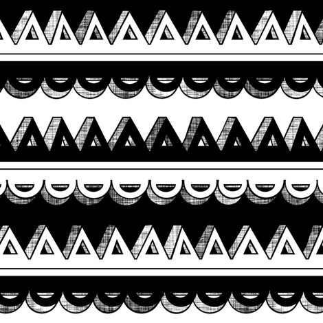 Black & White 3D Stripe fabric by pond_ripple on Spoonflower - custom fabric