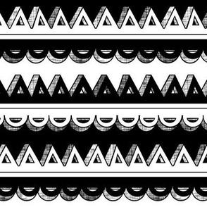 Black & White 3D Stripe