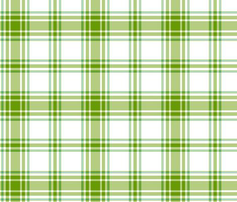 hiker's plaid - leaf green, sky blue and white fabric by weavingmajor on Spoonflower - custom fabric