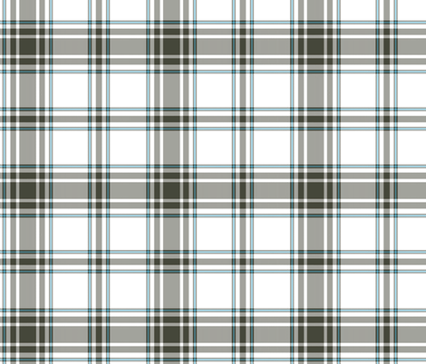 hikers' plaid - khaki and white fabric by weavingmajor on Spoonflower - custom fabric