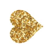 Custom Orientation Glitter Heart